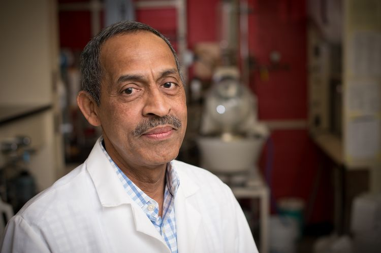 MSU researcher Muraleedharan Nair in the lab